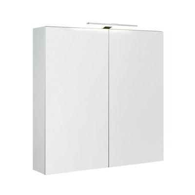 Speilskap dbl 80 med lys IP44 hvit matt