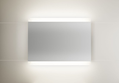 LinnBad Vik Speil M/Innfelt Lys Oppe/Nede Og Stikk 100 Cm