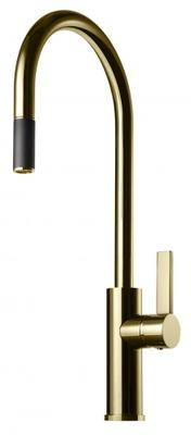 Tapwell ARM185 Honey Gold Kjøkkenbatteri m. uttrekk