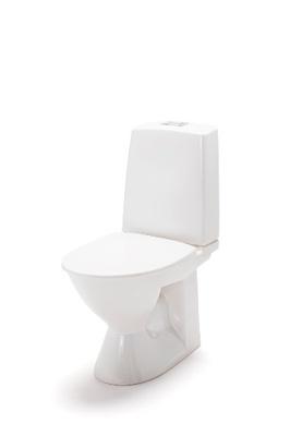 Porsgrund Glow Toalett med skjult S-lås for bolter