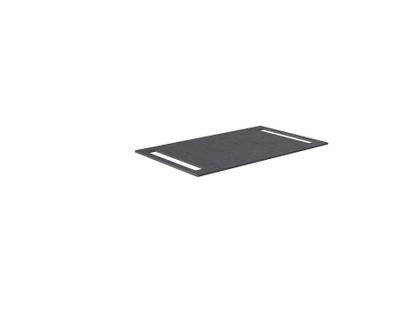 Benkeplate HPL 80 cm med håndkleholder begge sider, sort antrasitt