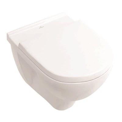 Villeroy & Boch O novo Toalettskål for veggmontering, 560x360 mm, inkl. sete med SC og QR