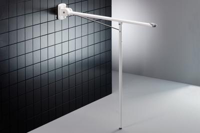 850mm VALUE toalettstøtte til fastmontering m/ben høyde 850mm