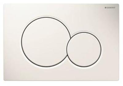Geberit Sigma 01 Betjeningsplate, hvit