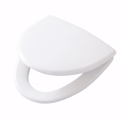 Toalettsete, hardplast med Soft Close og Quick Release, hvit, faste beslag
