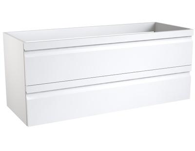 Merkur servantskap 120 hvit høyglans 2 skuffer/for dbl servant