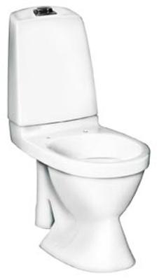Toalett, åpen S-lås, enkelspyling, f/rehab, 5591