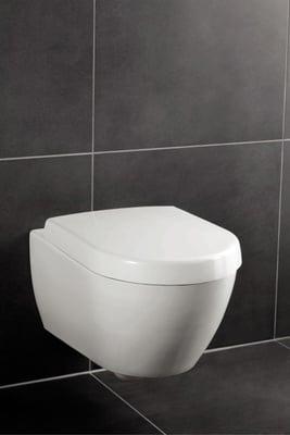 Toalettskål for veggmontering, 565x375 mm, inkl. monteringssett Supra Fix