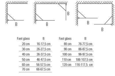 Glassfelt, rett 30x193