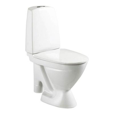 6870 Toalett, åpen S-lås, dobbelspyling, f/rehab, Fresh