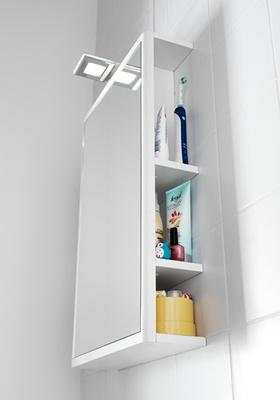Hafa One speil m oppbevaring 440 hvit matt