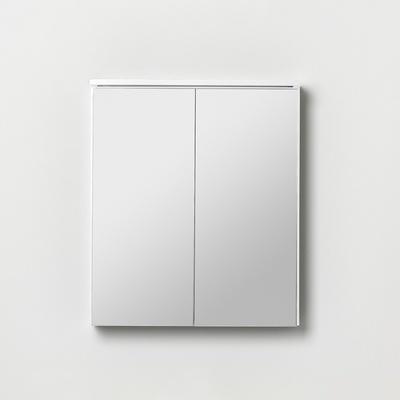 Afton/Gryning speilskap 600 hvit