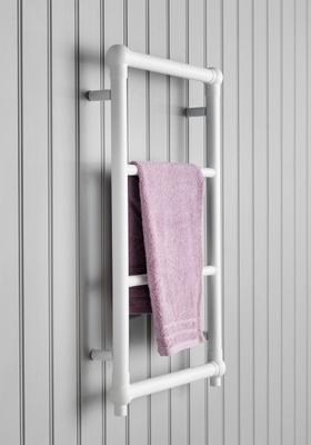 Hafa Hampton håndkletørker 475x750 hvit