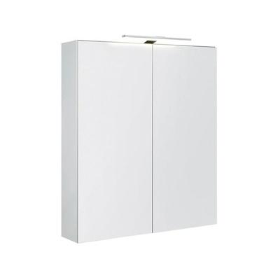 Speilskap dbl 60 med lys IP44 hvit matt