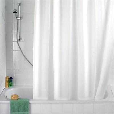 Dusjforheng, solid hvit 180x200cm