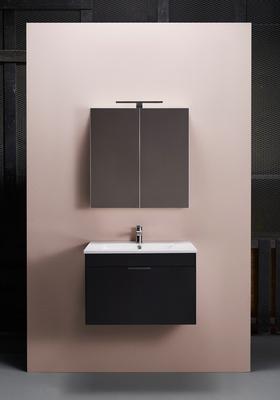 Hafa Go 600 kompl m speilskap svart, Servant og speilskap inkludert