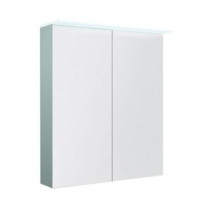Speilskap dbl 60 med lystopp, IP44 hvit høyglans