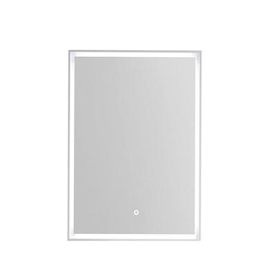 Korsbakken Rammespeil 50 med omsluttende LED-lys, IP44, hvit ramme
