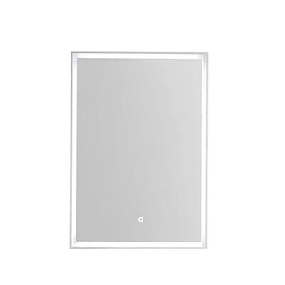 Rammespeil 50 med omsluttende LED-lys, IP44, hvit ramme