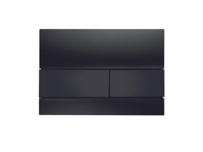 Tece TECEsquare betjeningsplate, svart glass/svarte knapper