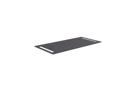 Benkeplate HPL 100 cm med håndkleholder begge sider, sort antrasitt
