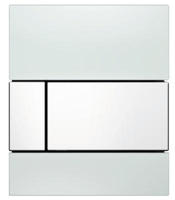 Tece Tec Esquare Urinal Betjeningsplate. Hvitt Glass/Hvit Knapp