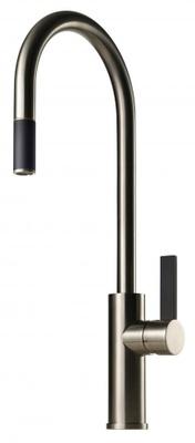 Tapwell ARM185 Brushed Nickel/Sort Kjøkkenbatteri