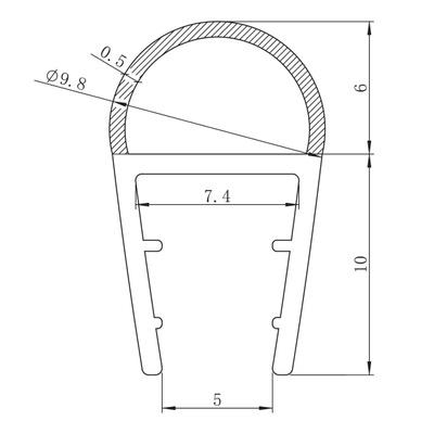 Nisjedør pakningslist 6mm (mellom dør/vegg)