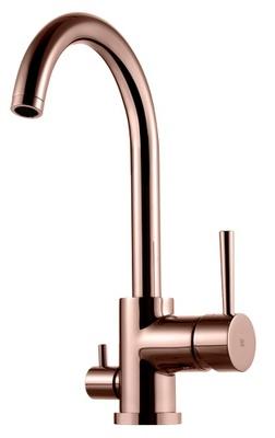 Tapwell Evo 184 Rose Gold kjøkkenkran med avst. for oppvaskmaskin