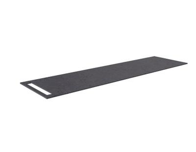 Benkeplate HPL 170 cm med håndkleholder, sort antrasitt