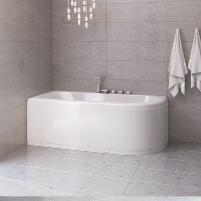 Badekar W0827B 180, Venstre m/badekarkran