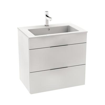 Laufen Jika Cube 65x43cm Baderomsmøbel inkludert porselensservant og 2 skuffer, hvit