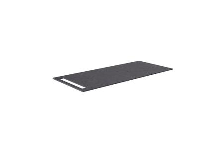 Benkeplate HPL 110 cm med håndkleholder, sort antrasitt