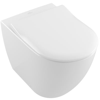 Villeroy & Boch Subway 2.0 Toalettskål for veggmontering, med slim sete Soft Close og Quick Release