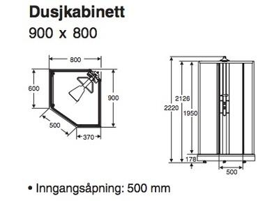 Showerama 8-5 Dusjkabinett, 80x90