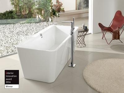 Villeroy & Boch Squaro Edge 12 Rektangulært badekar  frittstående Quaryl® 1800 x 800 mm