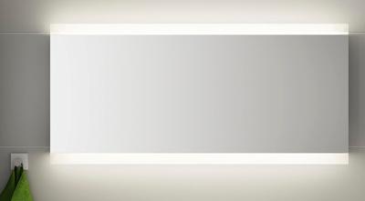 LinnBad Vik Speil M/Innfelt Lys Oppe/Nede Og Stikk 160 Cm