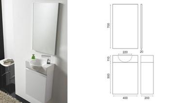Møbelpakke 40cm hvit høyglans
