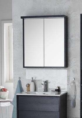 Hafa Original speilskap 600 sort finér