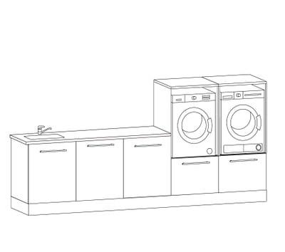 Alterna Vaskeromsinnredning, Forslag kombinasjon 313 cm
