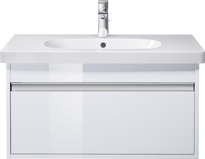 Ketho Møbelsett, 85x48 cm Hvit høyglans