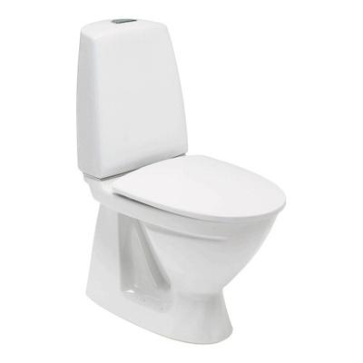 6860 Toalett, skjult S-lås, dobbelspyling, f/liming, Fresh