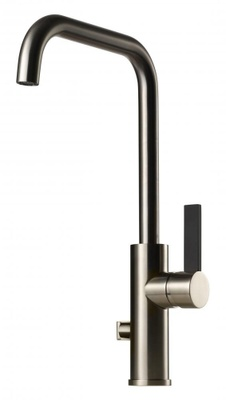 Tapwell ARM984 Brushed Nickel/Sort Kjøkkenbatteri