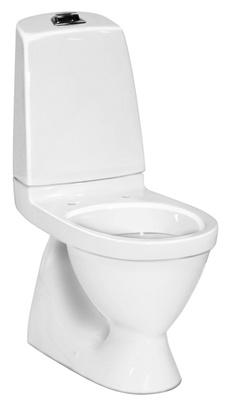 Toalett, skjult S-lås, dobbelspyling, 5500