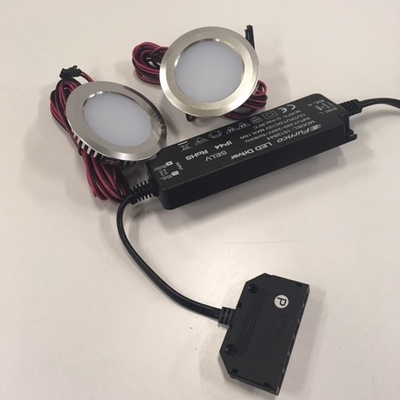Hafa Led-spot 55mm krom kompl. med transformator