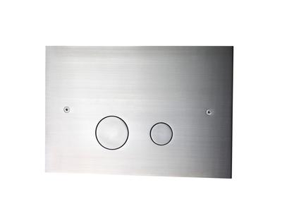 Tapwell DUO112 Spyleknapp børstet krom i metall f.innbygging