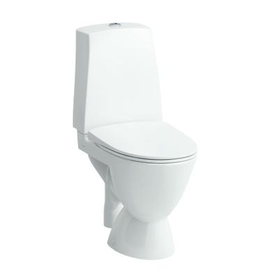 Toalett med S-lås, liming hvit