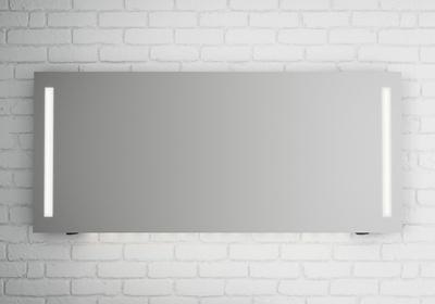LinnBad Fosse Speil M/Sidelys Dimmer Stikk Underlys 160 Cm