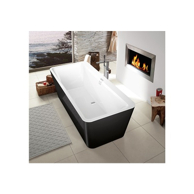 Badekar, frittstående 180x80 cm
