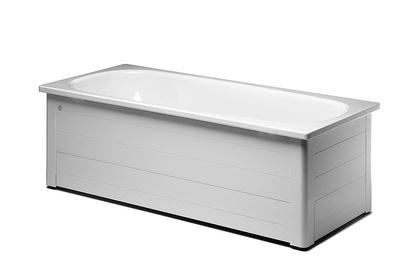 Badekar 1600x700 mm komplett, hvit.